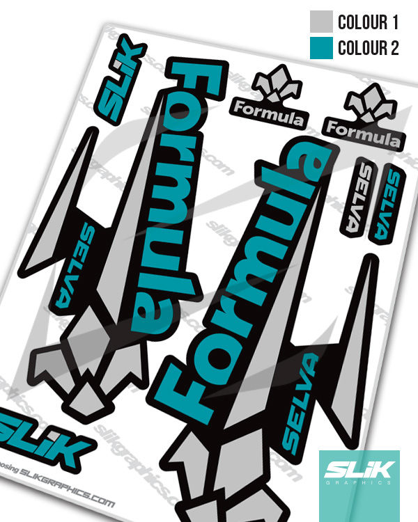 Formula Selva Decal Kit - Black Forks - product images  of