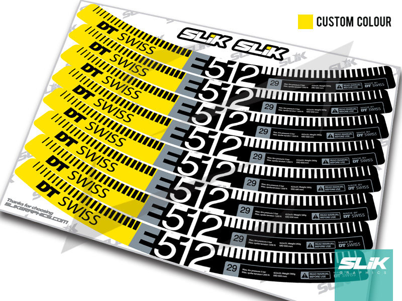 DT Swiss E 512 Style Decal Kit - product images  of