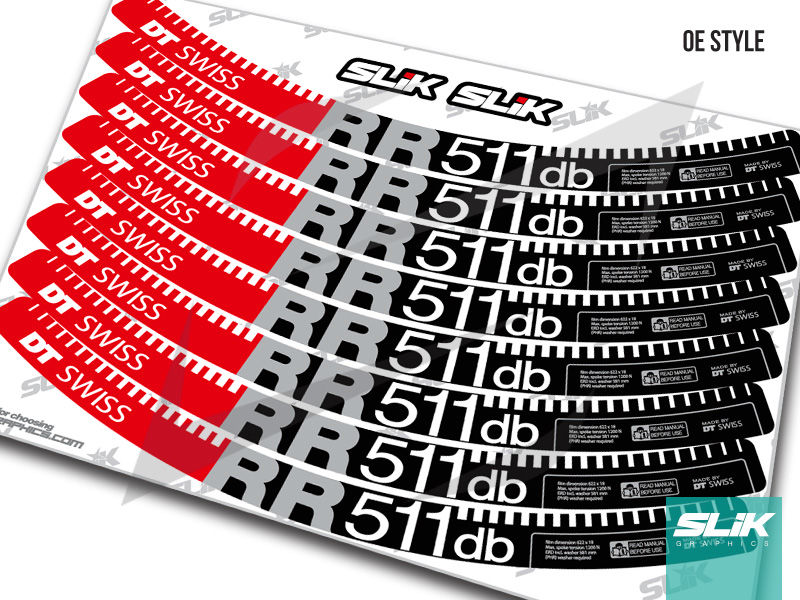 DT Swiss RR 511 DB Style Decal Kit - product images  of