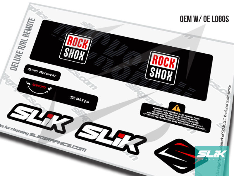 RockShox Deluxe RL/R Remote  Decal Kit - product images  of
