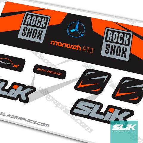 2016,RockShox,Monarch,RT3,Decal,Kit, Rockshox, Monarch RT3, RT3, shock decals, decals, stickers