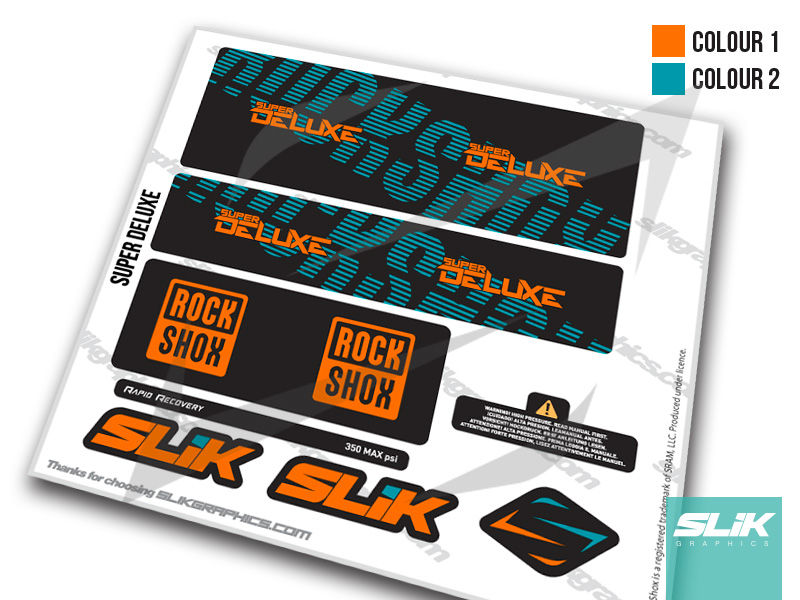 RockShox Super Deluxe Decal Kit - product images  of
