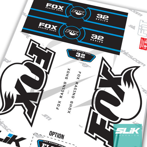 Fox,32,OE,Style,Decal,Kit,-,White,Forks,Fox 32, fork decals, stickers