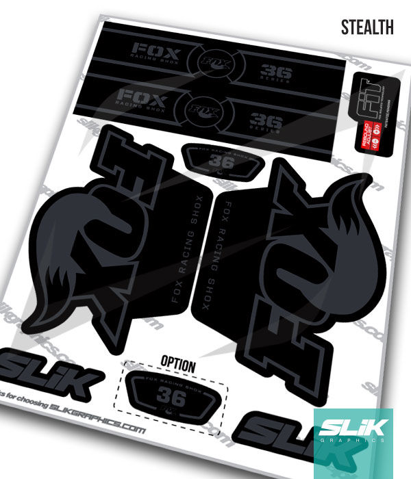 Fox 36 OE Style Decal Kit - Black Forks - product images  of