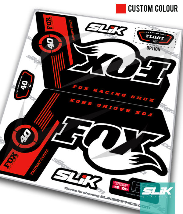 Fox 40 Factory Style Decal Kit - Black Forks - product images  of