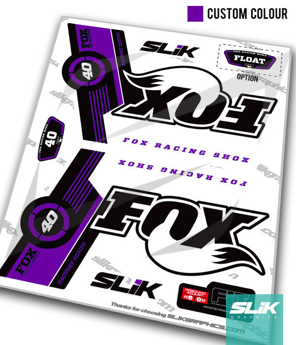 Fox 40 Factory Style Decal Kit - White Forks - product images  of