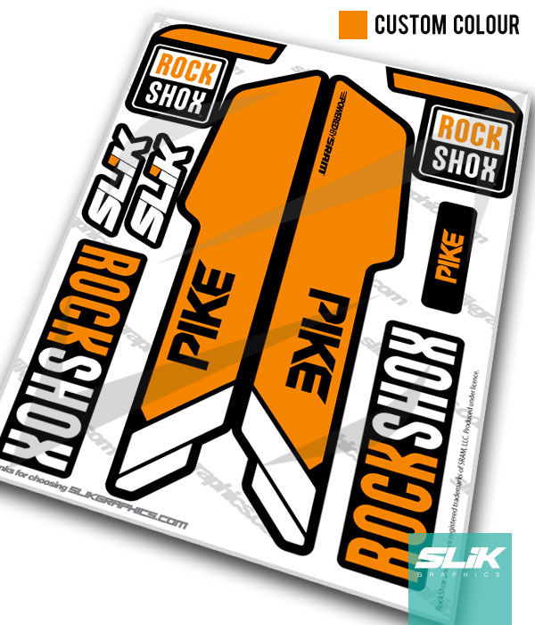 RockShox PIKE 2013 Style Decals - Black Forks - product images  of