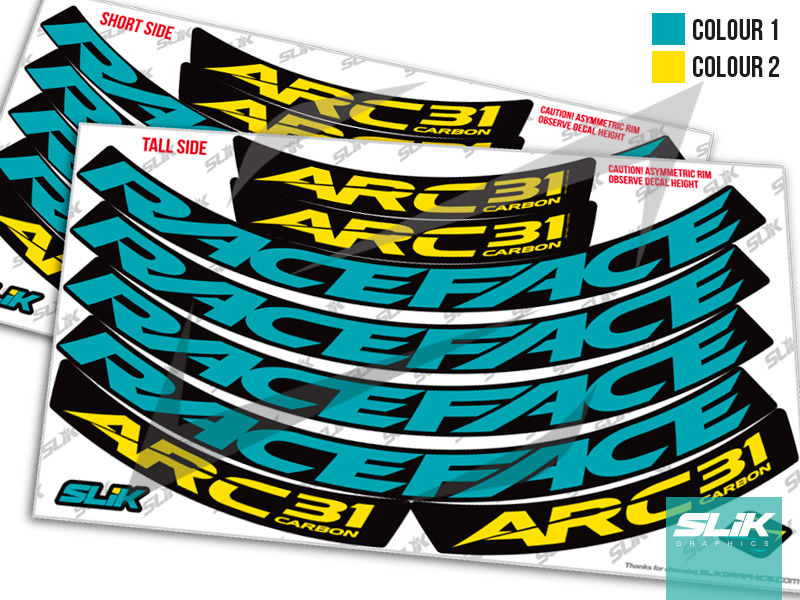 RaceFace ARC 31 Carbon Style Rim Decals - product images  of