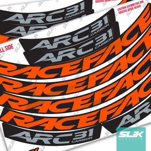 RaceFace,ARC,31,Carbon,Style,Rim,Decals,Easton, RaceFace, Race Face, AEFFECT, ARC 31, Carbon, Stickers, rim decals