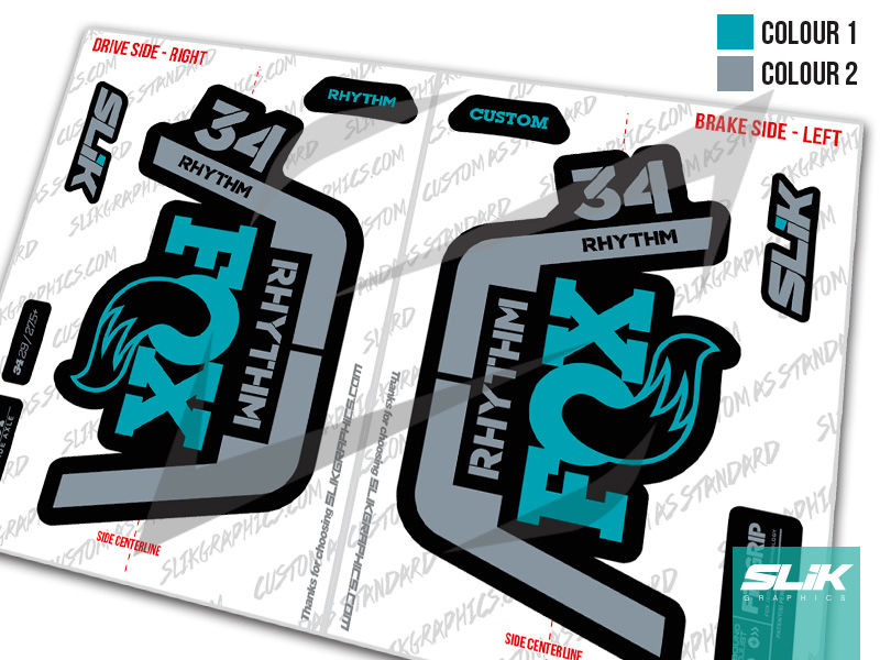 Fox 34 Rhythm 2019 Style Decal Kit  - product images  of