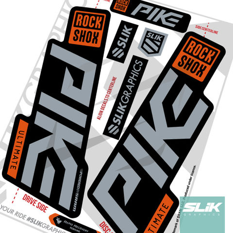 RockShox,Pike,Ultimate,Decals,-,Black,Forks,Rockshox, Pike, Ultimate, 2020, forks, decals, stickers,