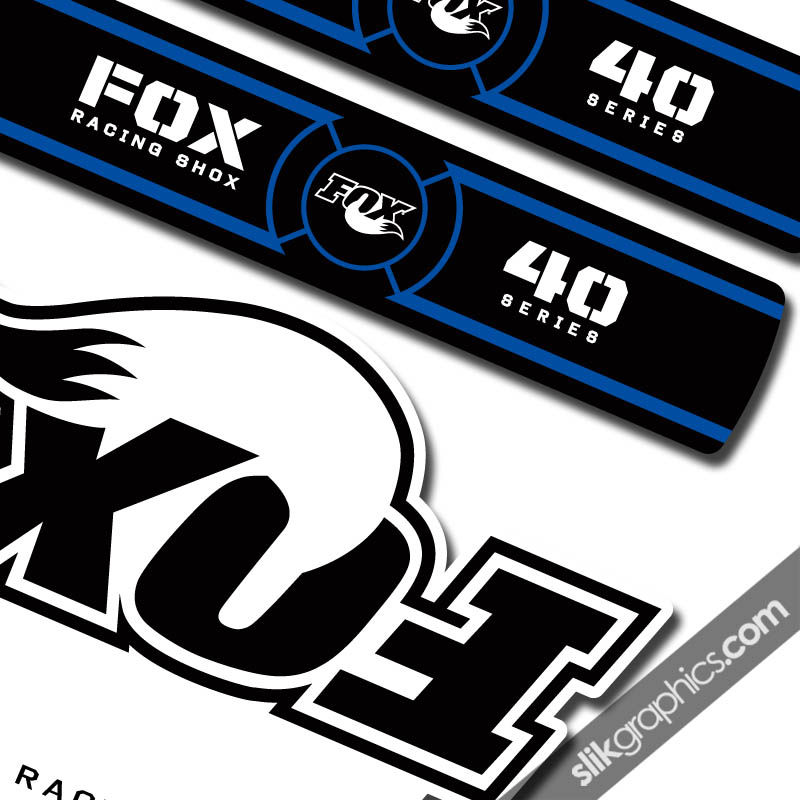 Fox 40 OE Style Decal Kit - White Forks - product images  of