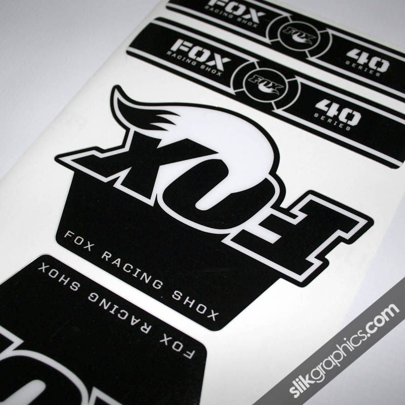 Fox 40 OE Style Decal Kit - Black Forks - product images  of