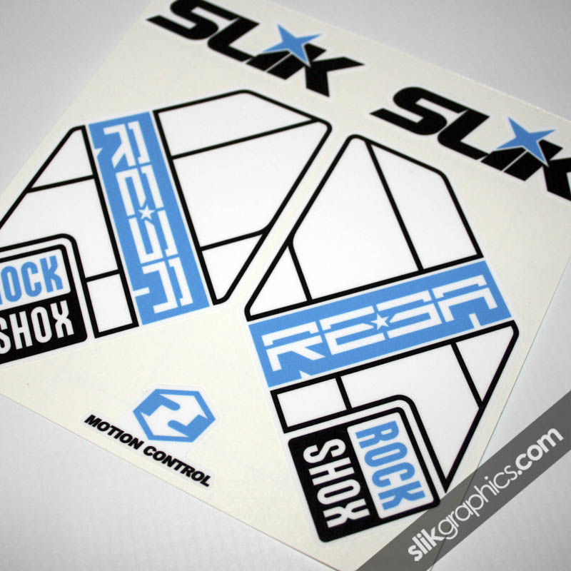 RockShox Reba 2012 Style Decals - White Forks - product images  of