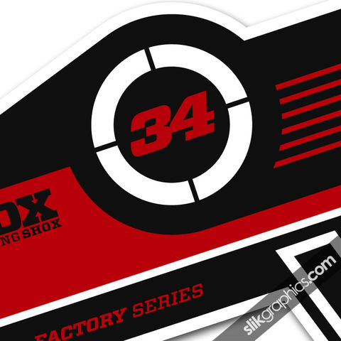 Fox,34,Factory,Style,Decal,Kit,-,White,Forks,Fox 34, fork decals, stickers