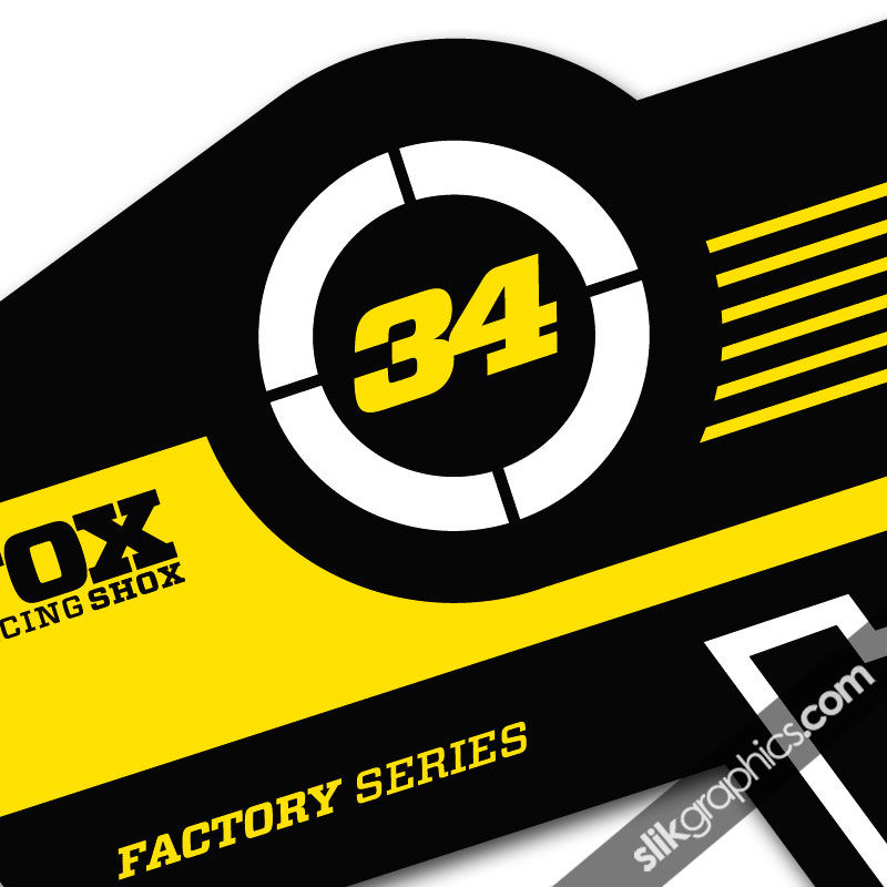 Fox 34 Factory Style Decal Kit - Black Forks - product images  of