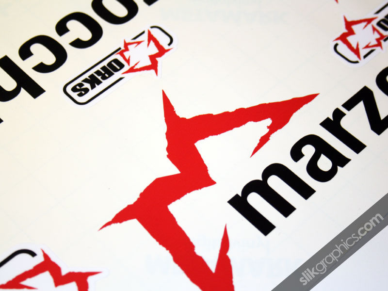 Marzocchi 888 Works Style Decal Kit - product images  of