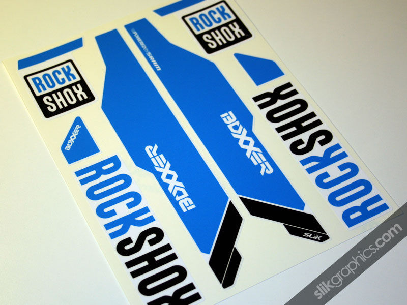 Rockshox Boxxer 2013 Style Decals - White Forks - product images  of