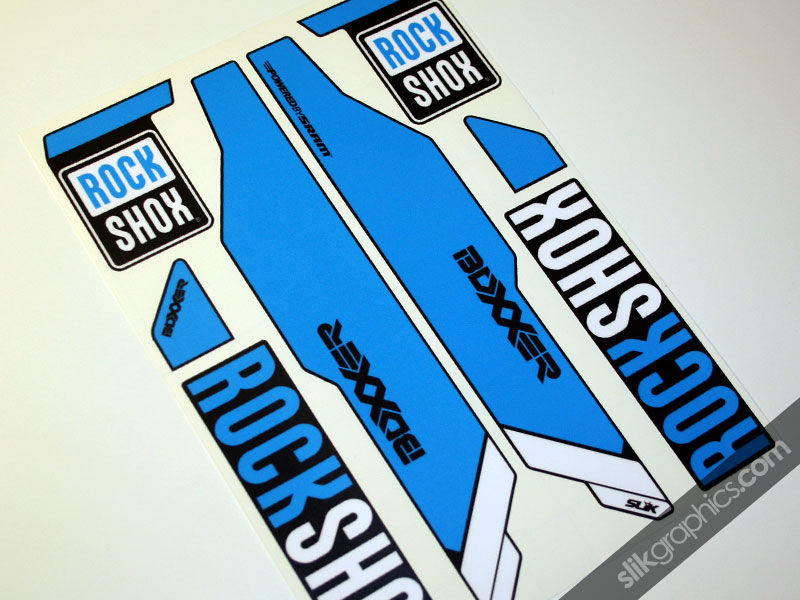 Rockshox Boxxer 2013 Style Decals - Black Forks - product images  of