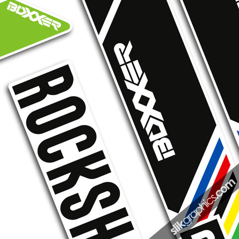 Rockshox,Boxxer,2013,Style,Decals,-,Blackbox, Boxxer, 2013, forks, decals, stickers, Sam Hill, Blackbox