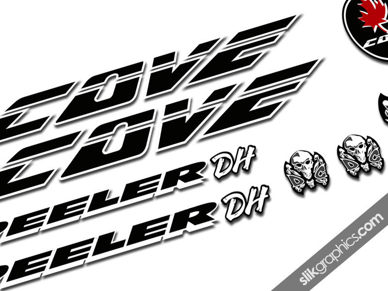 Cove Peeler DH Decal Kit - product images  of