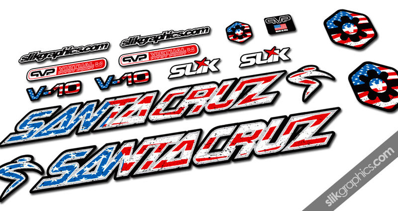 Santa Cruz V10 'Nations' Decal Kit - product images  of