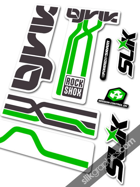 RockShox Lyrik 2009 Style Decals - White Forks - product images  of