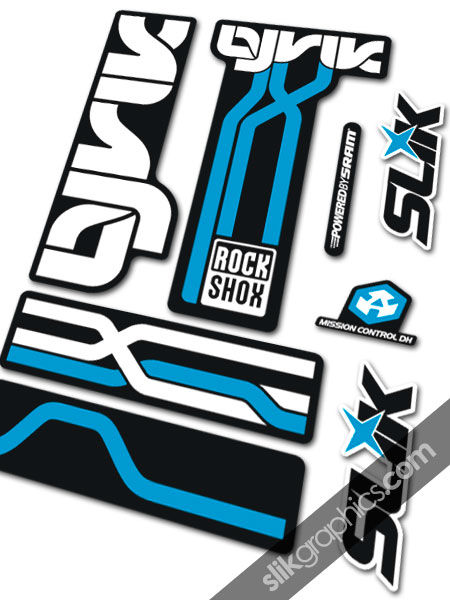 RockShox Lyrik 2009 Style Decals - Black Forks - product images  of