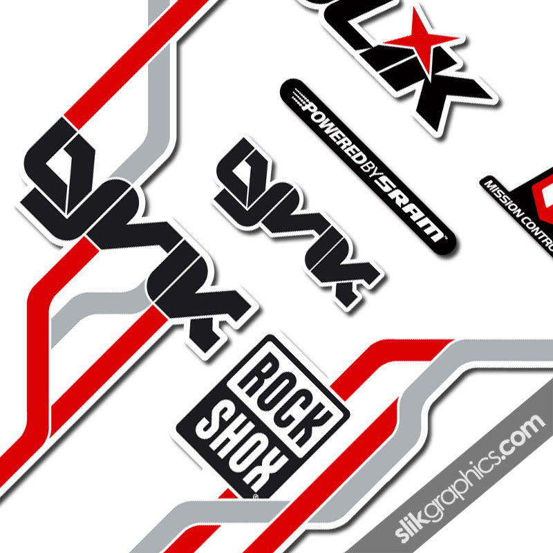 RockShox Lyrik 2010 Style Decals - White Forks - product images  of
