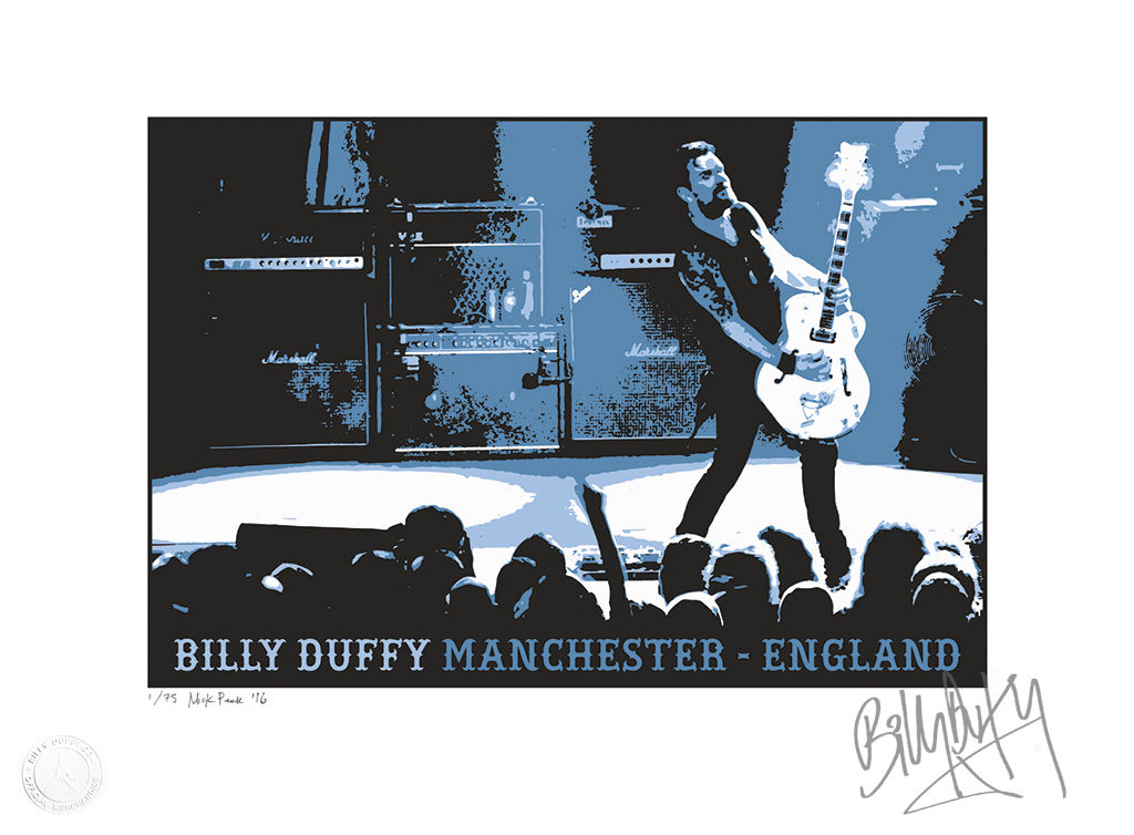 "Limited Edition Signed Screenprint - ""Billy Duffy Manchester - England""  - product images  of"