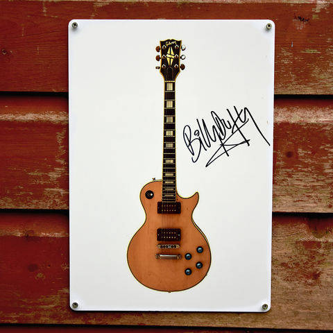 Signed,'Ronno',Les,Paul,Metal,Sign