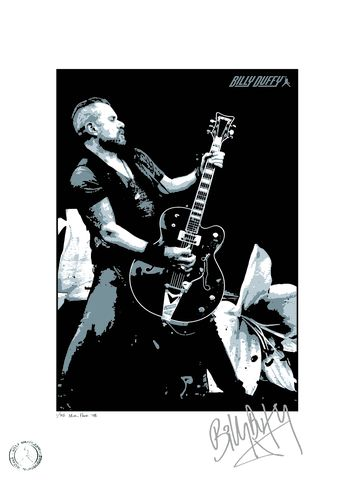 Limited,Edition,Signed,Screenprint,-,BD,Black,Falcon,Billy Duffy Signed Poster The Cult