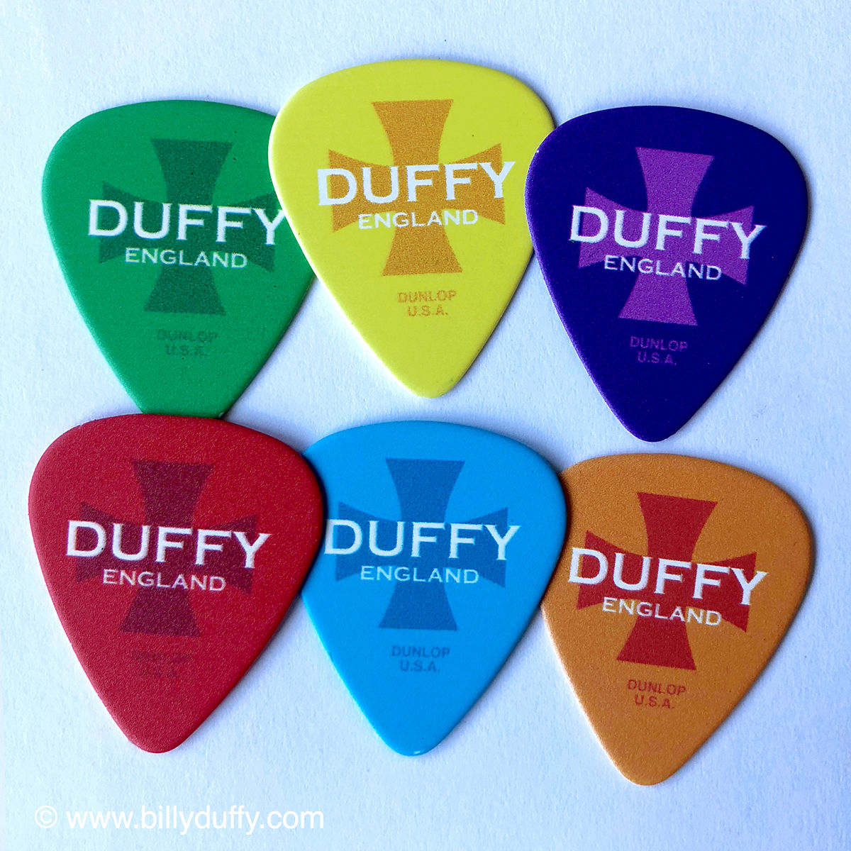 Duffy England 'Pop Art' Signed Guitar Pick Set - product images  of