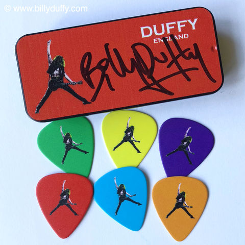 Duffy,England,'Pop,Art',Signed,Guitar,Pick,Set,Billy Duffy guitar pick The Cult