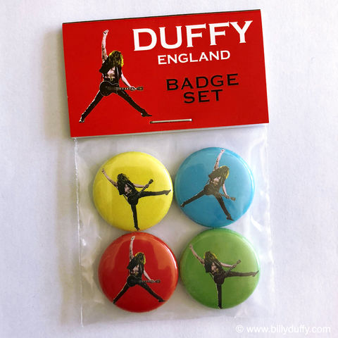 Duffy,England,'Pop,Art',Badge,Set,Billy Duffy badge The Cult Sonic Temple