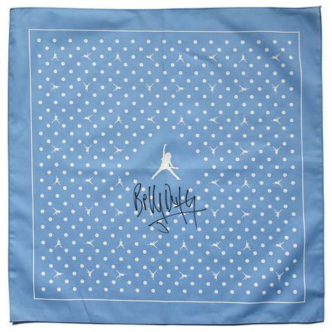 Signed,BD,Logo,Bandana,-,Sky,Blue/White,billy duffy bandana scalf scarve scarves
