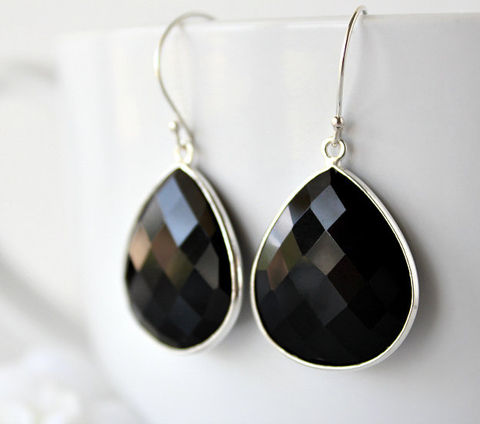 Medium,Black,Onyx,Dangle,Earrings,,925,Sterling,Silver,,Jet,Bezel,Gemstone,,Drops,,Jewelry,Earrings,Silver_Earrings,Bezel_Gemstone,black_dangle,jet_black,black_drop_earrings,black_gemstone,black_stone,black_onyx_jewelry,black_teardrops,raven_black,large_teardrops,fancy_jewelry,925_sterling,Black Onyx,925 Sterling Silver