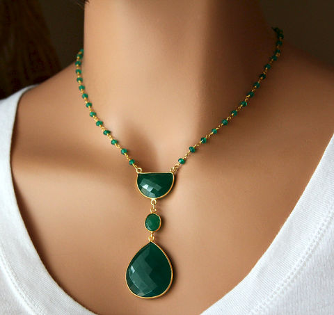 Long,Green,Onyx,Pendant,Necklace,,Emerald,Green,,Gemstone,Pendant,,May,Birthstone,,Statement,Bohemian,Style,Jewelry,Necklace,Stone,may_birthstone,gold_vermeil,green_onyx_rosary,pendant_necklace,green_gemstone,rosary_necklace,long__necklace,green_onyx_jewelry,long_pendant,bohemian_style,Green_Onyx_pendant,bygerene,gypsy_style,green onyx,gold filled,24k gold verm