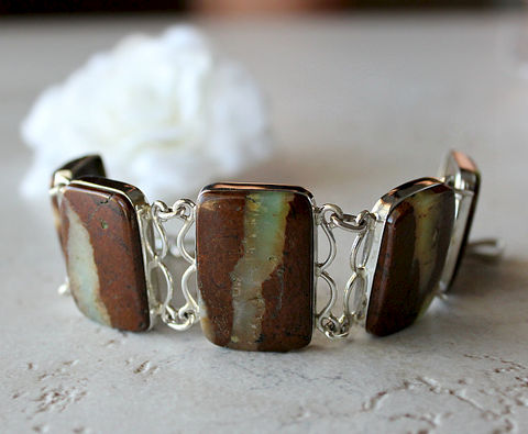Stripe,Raw,Chrysoprase,Bracelet,,925,Sterling,Silver,,Organic,Stone,,Australian,Chrysoprase,,Green,and,Brown,OOAK,Jewelry,Bracelet,Stone,bygerene,green_chrysoprase,crysoprase_stone,chrysoprase_jewelry,raw_green_gemstone,925_sterling_silver,brown_and_green,green_stone_bracelet,Organic_Stone,Chrysoprase_Bracelet,Australian_stone,Green_and_Brown,brown_stone_bracelet