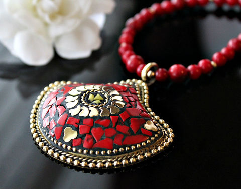 Statement,Necklace,,Nepalese,Red,Coral,Gold,Jewelry,,Tribal,jewelry,,Tibetan,Jewelry,Necklace,tribal_jewelry,tibet_necklace,statement_necklace,nepalese_necklace,red_coral,coral__jewelry,red_coral_necklace,nepalese_jewelry,statement_pendant,huge_pendant,bygerene,solid_brass_necklace,valentine_sale,Solid Brass,Red Bamboo Coral,14k g