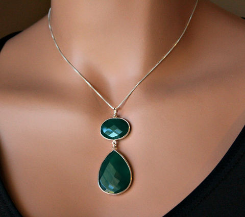 Green,Onyx,Pendant,Sterling,Necklace,,925,Silver,,Gemstone,,May,Birthstone,,Witches,of,east,end,inspired,Jewelry,Necklace,emerald_green,may_birthstone,pendant_necklace,green_gemstone,long__necklace,green_onyx_jewelry,emerald_jewelry,green_amulet,witches_of_east,bygerene,925_sterling_silver,silver_pendant,valentine_sale,Green Onyx,925 Sterling Silver