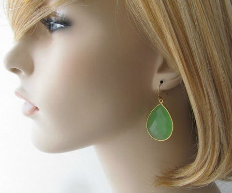 Large,Green,Chalcedony,Drop,Earrings,,Mint,Bezel,Dangle,,Light,Gemstone,,Gold,Vermeil,,Sage,Jewelry,Earrings,Dangle,light_green_gemstone,gold_vermeil,sage_green,large_teardrop,green_chalcedony,mint_green,green_bezel_dangle,green_dangle,green_gemstone,pale_green,seafoam_green,bygerene,valentine_sale,green chalcedony,gold vermeil