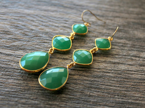 Long,Triple,Drop,Green,Chalcedony,Earrings,,3,tiers,,Cascade,,gold,filled,Jewelry,,Chrysoprase,Green,,Dangles,,drop,Jewelry,Earrings,3_tiers,three_tiers,long_dangle,triple_drop,cascade_earrings,chalcedony_jewelry,long_teardrop,pink_teardrops,bygerene,green_earrings,green_chroprase,green_drop_dangles,emerald_green,sterling silver,gold filled,gold plated,green chalcedony