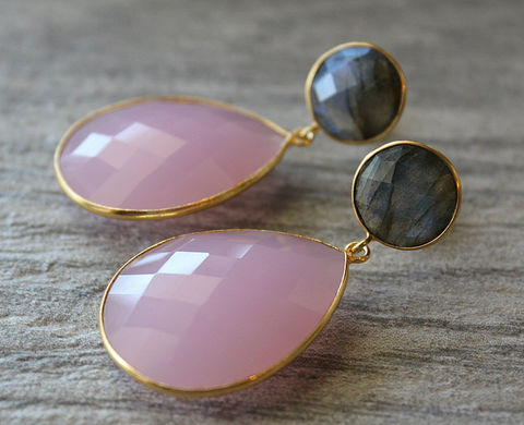 Large,Double,Drop,Cashmere,Rose,Quartz,and,Flash,Labradorite,Earrings,,Long,Pink,Oversized,Dual,Drop,,Stormy,Weather,Grey,Jewelry,Earrings,light_pink,gold_vermeil,double_drop,rose_quartz_earrings,pink_quartz,bygerene,light_rose,rose_gemstone,rose_gold,flash_labradorite,grey_and_pink,cashmere_rose_dangle,valentine_sale,rose quartz,gold vermeil,Flash Labradorite