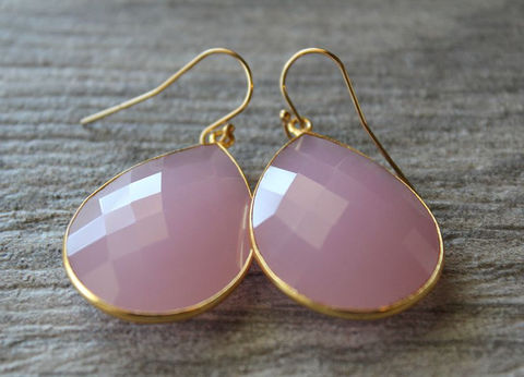 Jumbo,Pink,Rose,Drop,Earrings,,Quartz,Dangle,Linen,Gemstone,,Milky,Bezel,,Gold,Vermeil,Jewelry,24k_gold_vermeil,large_pink_earrings,rose_quartz_drop,pink_drop__earrings,pink_quartz_dangle,dusty_rose_earrings,pink_linen,pink_gemstone,pale_pink_teardrops,light_pink_bezel,pink_gold_earrings,bygerene,valentine_sale,pink rose quartz,24k Gold Ver