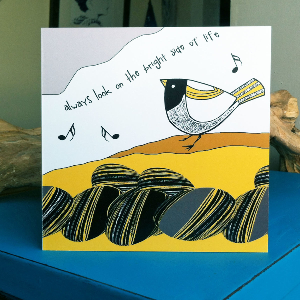 Bright Side (yellow) - pack of 4 greetings cards - product image