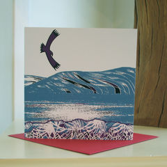 By,the,Loch,-,pack,of,4,greetings,cards,Greetings cards, by the loch, cuckoo tree, Isle of Skye, Denise Huddleston, Cuckoo Tree Studio, Greetings Cards
