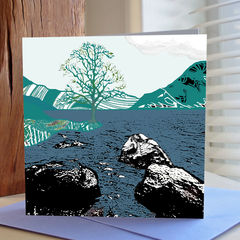 By,the,Water,(blue),-,pack,of,4,greetings,cards,Greetings cards, by the water, blue, cuckoo tree, Isle of Skye, Denise Huddleston, Cuckoo Tree Studio, Greetings Cards