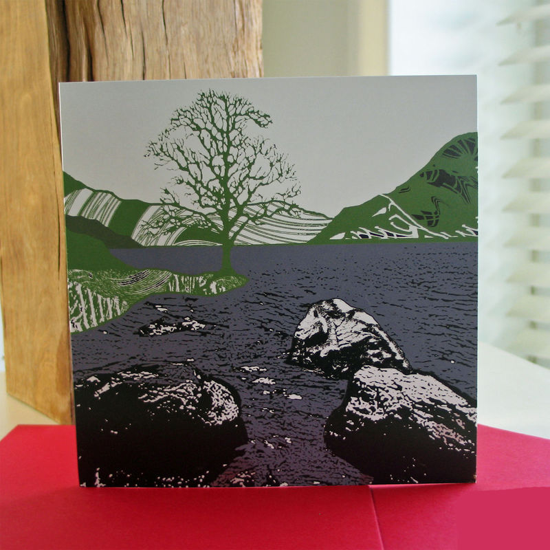 By the Water (green) - pack of 4 greetings cards - product image