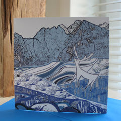 Cuillin,Deer,-,pack,of,4,greetings,cards,Greetings cards, Cuillin deer, cuckoo tree, Isle of Skye, Denise Huddleston, Cuckoo Tree Studio, Greetings Cards